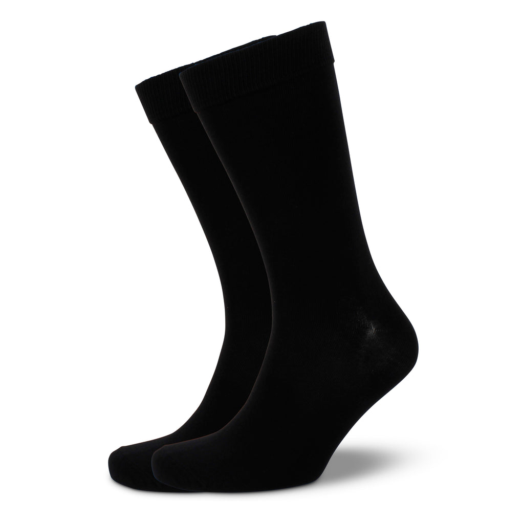 Men's Plain Modal Business Socks - Black