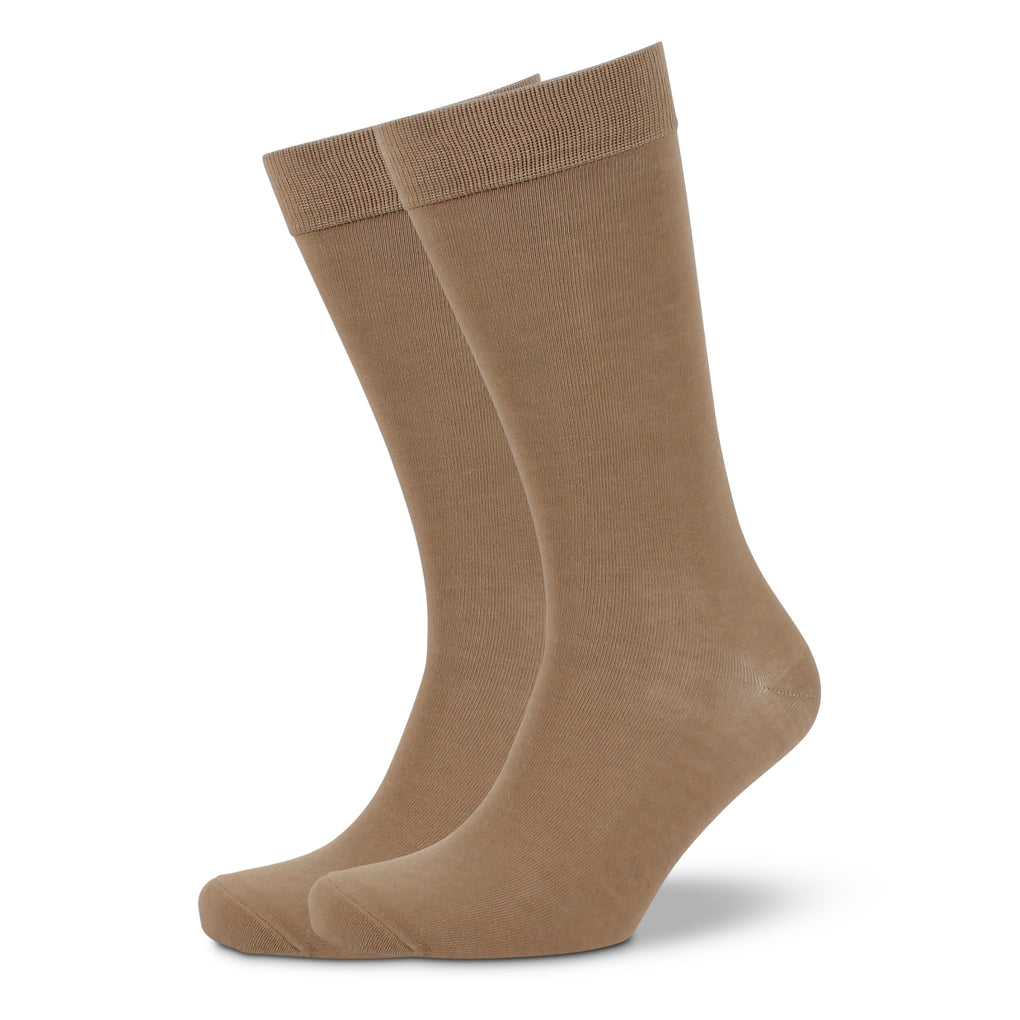 Men's Plain Modal Business Socks - Taupe