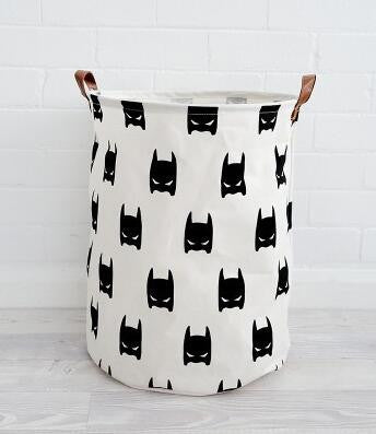 Laundry Basket for Children Room Decoration Stand Canvas Storage Bag