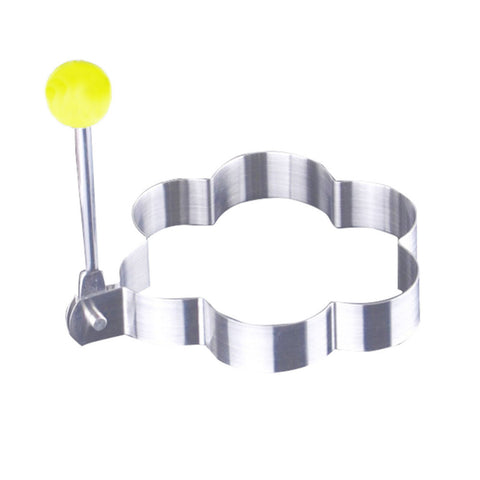 4pcs/lot Stainless Steel Omelette Mould Device Ring Model set Heart Shape