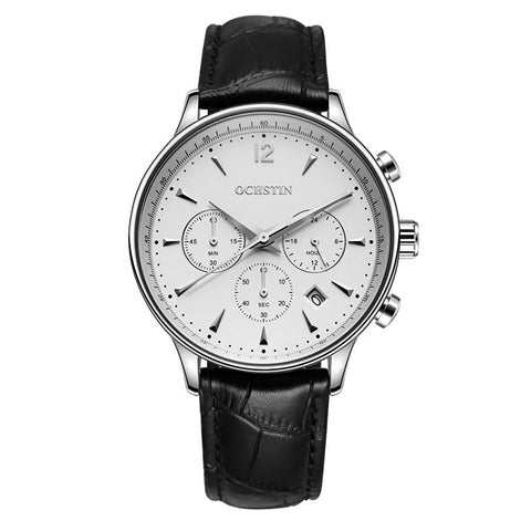 Top Brand Luxury CHRONOGRAPH Function Date Leather Sport Watch
