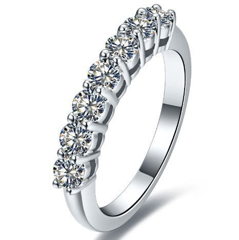 0.7 Carat Simulated Diamond Infinity Wedding Rings for Women