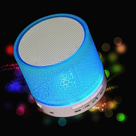 Portable Mini LED Bluetooth Wireless Music Audio TF USB FM Light Stereo Sound Speaker
