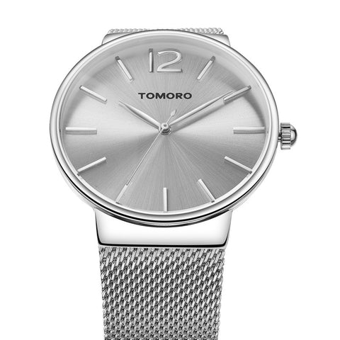 Super Thin Fashion Stainless Steel Wrist Watch for Men