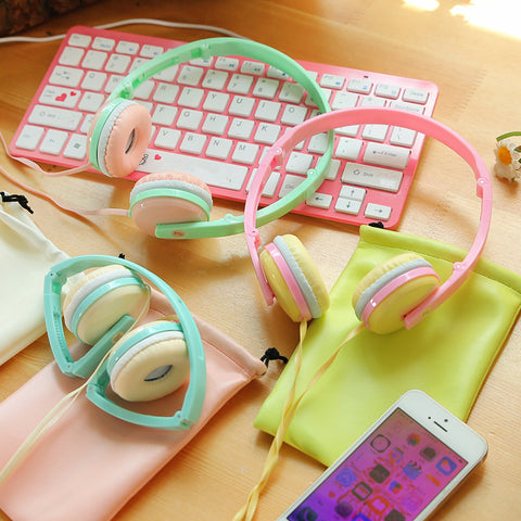 Candy Color Foldable Kids Headset Earphone for Mp3 Smartphone