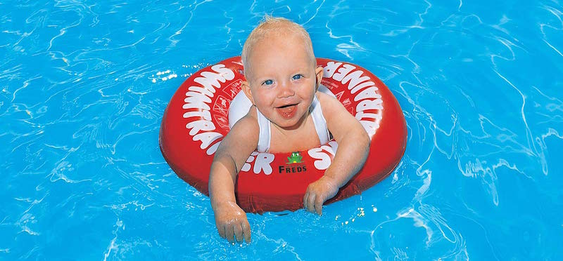Baby with SWIMTRAINER Classic Red