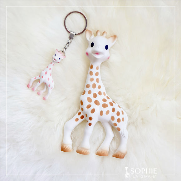 Sophie la girafe - The original teether from France + FREE Pink Sophie Keychain (ONLY for the month of October)