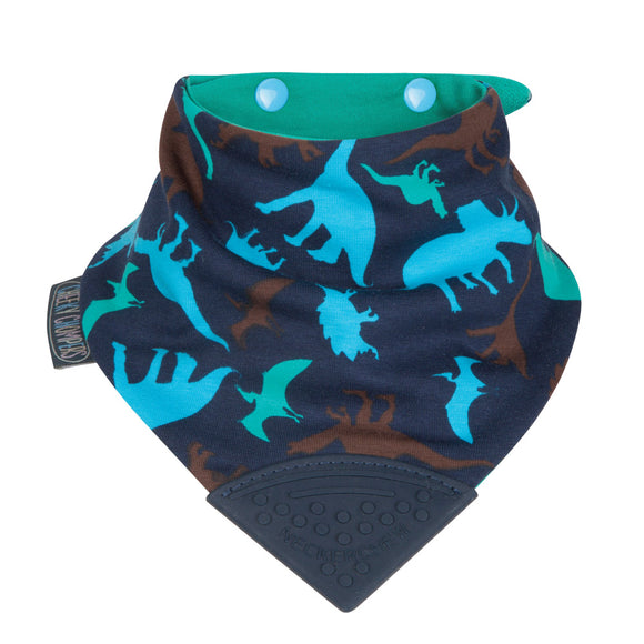 Neckerchew Teething Bib - Dino Friends