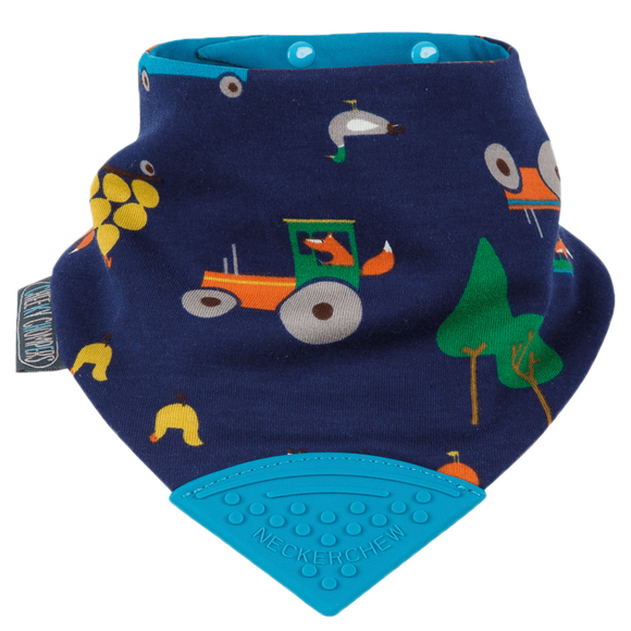 Neckerchew Teething Bib - Reynards Farm (Exclusive Print By Joules)