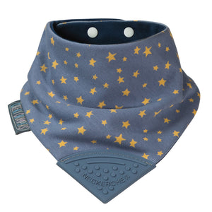 Neckerchew Teething Bib - Midnight Stars