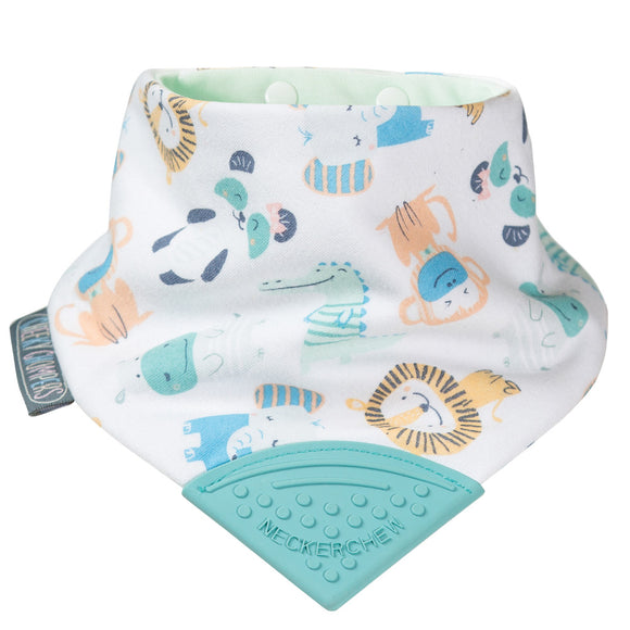 Neckerchew Teething Bib - Cheeky Animals