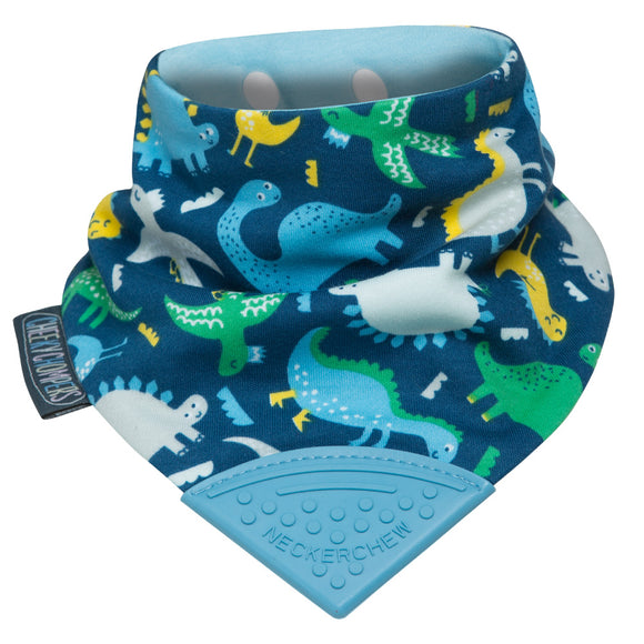 Neckerchew Teething Bib - Baby Dino