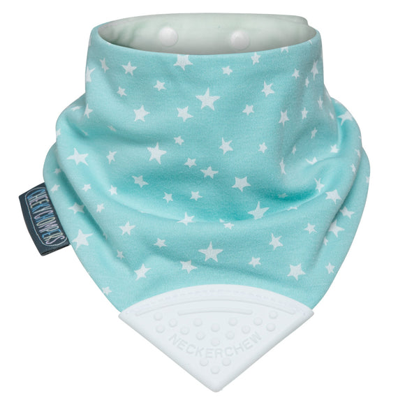 Neckerchew Teething Bib - Sage Stars