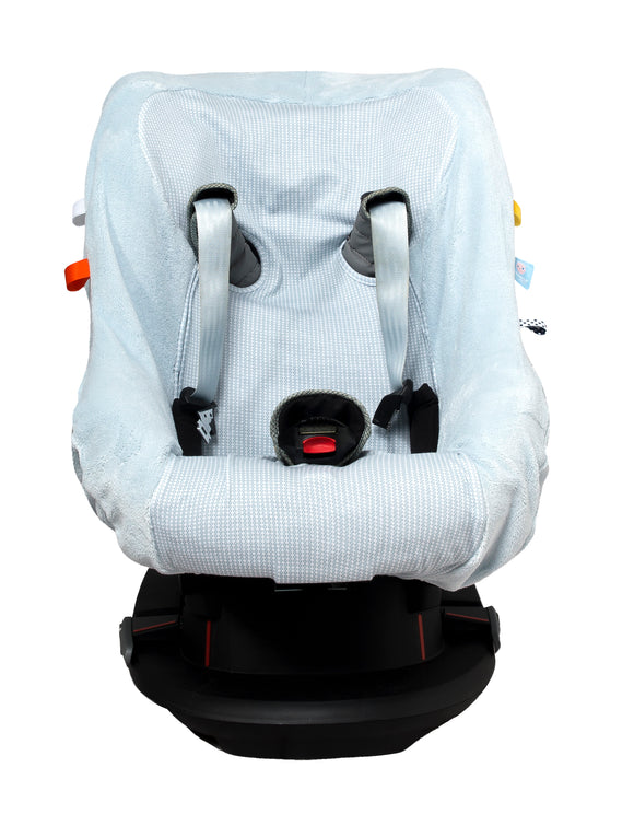 Snoozebaby - Carseat Cover - Fading Blue