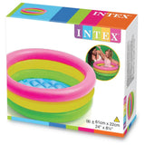 INTEX Sunset 3-ring Inflatable Baby Pool (85cm x 25cm)
