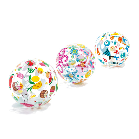 INTEX Lively Print Inflatable Balls (51cm)