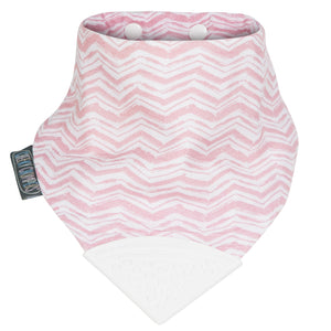 Muslin Neckerchew Teething Bib - Rosy Days