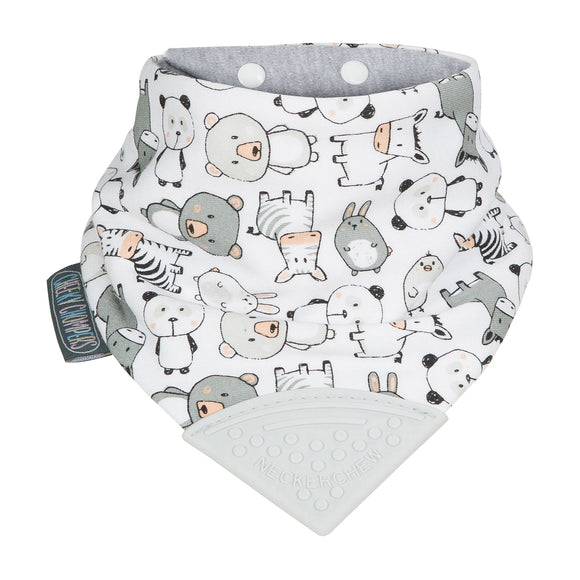 Neckerchew Teething Bib - Panda Pals