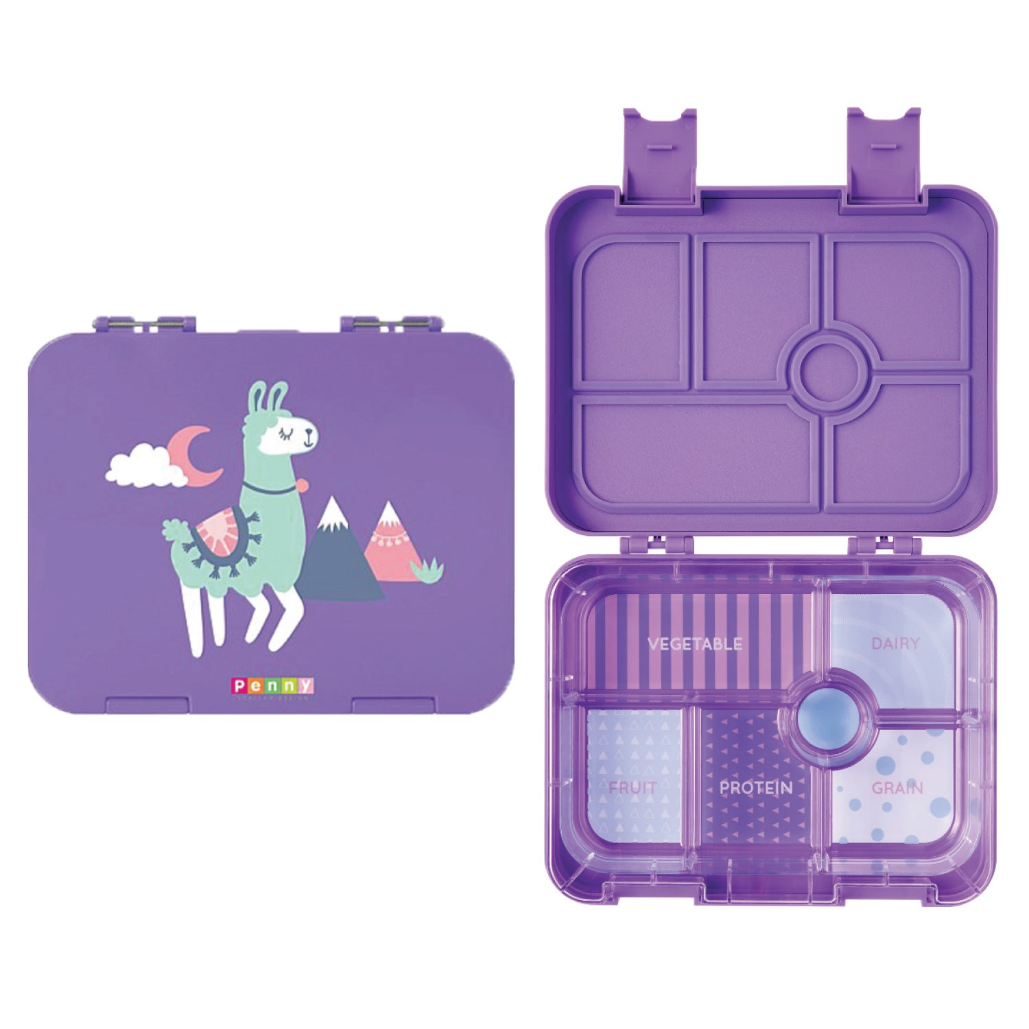 Penny Scallan Design 6-Compartment Large Bento Box - Loopy Llama