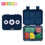 Penny Scallan Design 6-Compartment Large Bento Box - Navy Star