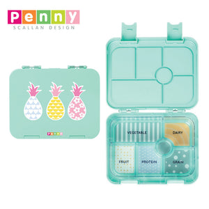 Penny Scallan Design 6 Compartment  Bento Box - Pineapple Bunting