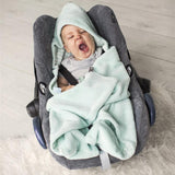 Snoozebaby - Trendy Wrapping Wrap Blanket - Fresh Mint