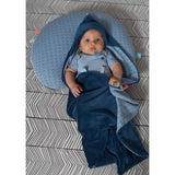 Snoozebaby - Trendy Wrapping Wrap Blanket - Indigo Blue