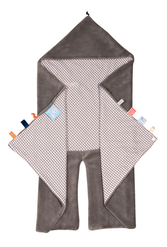 Snoozebaby - Trendy Wrapping Wrap Blanket - Hippo Grey (Organic Cotton)