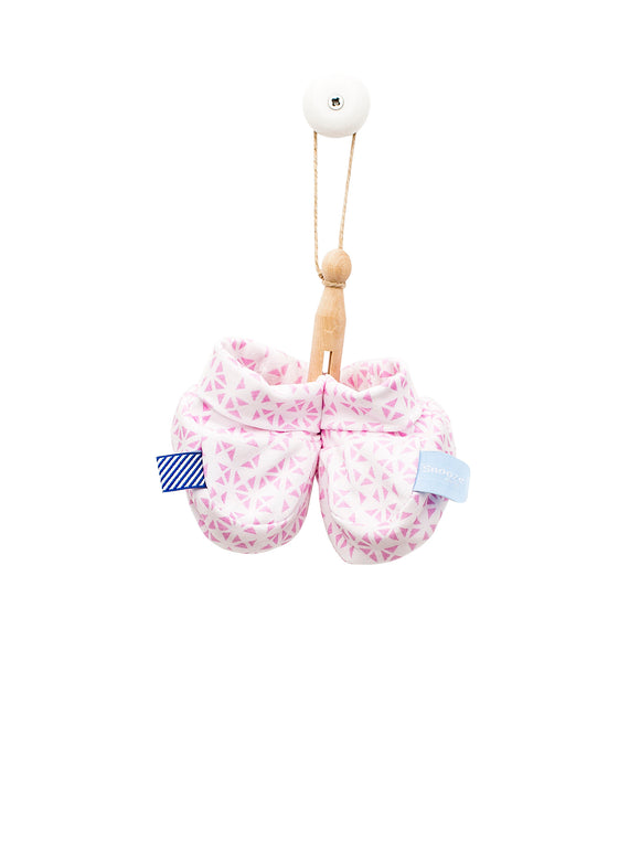 Snoozebaby - Booties - Mosaic Powder Pink