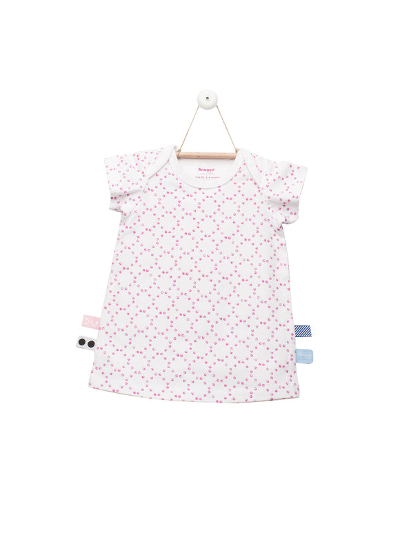 Snoozebaby - Dress - Stamped Dot Funky Pink