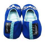 The Plush Shop Handmade Indoor Slippers - Unique Blue