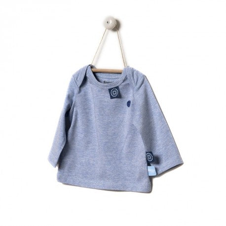 Snoozebaby - Long Sleeve Shirt - Blue Melange