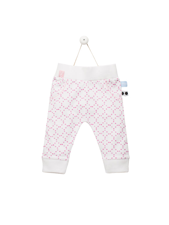 Snoozebaby - Suave Pants - Stamped Dot Funky Pink