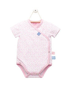 Snoozebaby - Romper SS - Mosaic Powder Pink