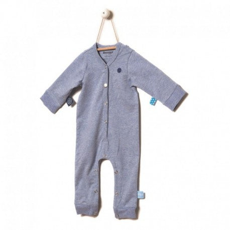 Snoozebaby - Long Sleeve Suit - Blue Melange