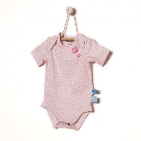 Snoozebaby - Short Sleeve Romper - Pink Dot