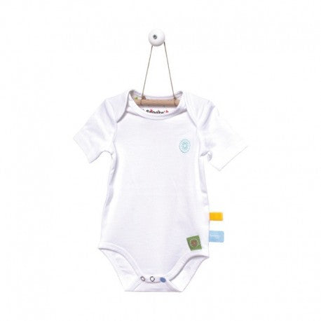 Snoozebaby - Short Sleeve Romper - White