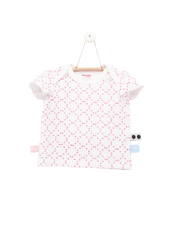 Snoozebaby - Tshirt SS - Stamped Dot Funky Pink
