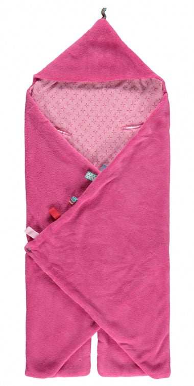 Snoozebaby - Trendy Wrapping Wrap Blanket - Funky Pink