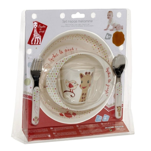 Sophie the Giraffe Melamine meal-time set - Kiwi version