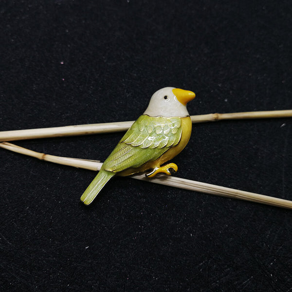 Cute Bird Animal Ceramic Brooch -colorulife.com