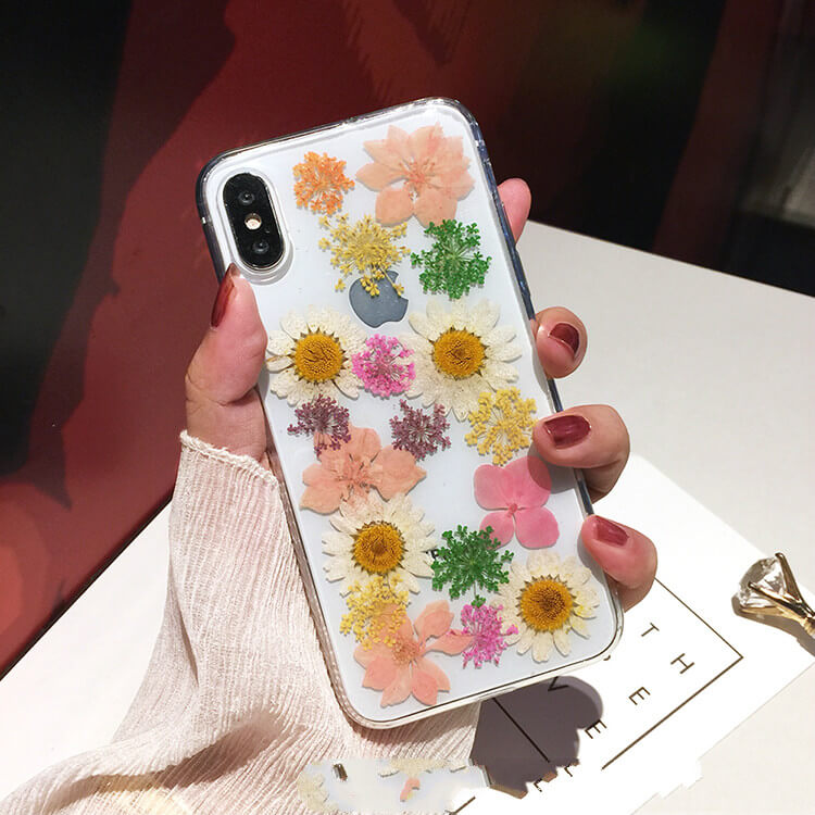 Genuine Pressed Dried Flower iPhone 7 Case- colorulife.com