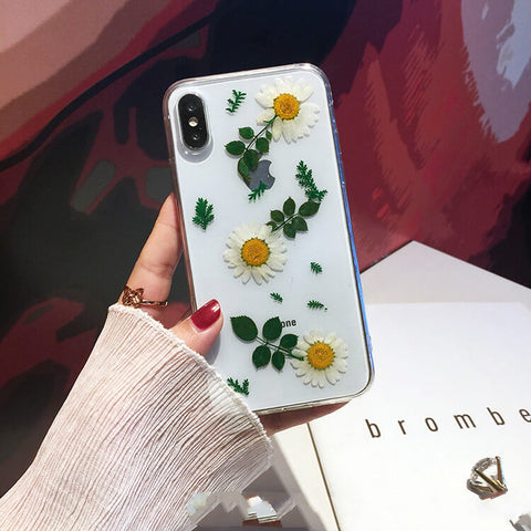 Pressed Flower Protective Phone Cases For iPhone