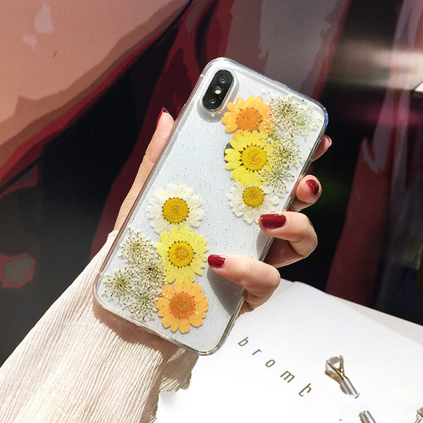 New Design Pressed Flower iPhone Cases