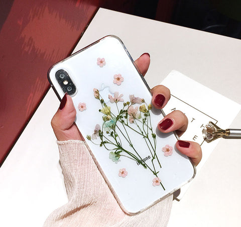 DIY Flower Pressed Phone Case For iPhone 11 12 Pro Max