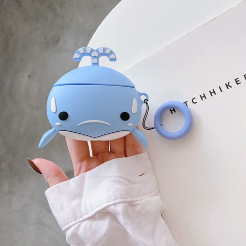 Cute Whale Animal Airpods Case Cover