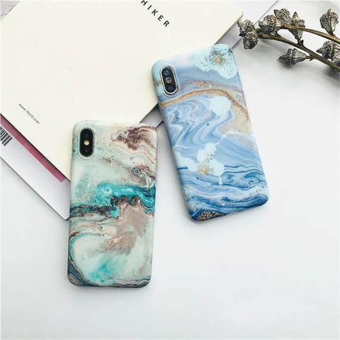 Wave pattern iPhone X Case-colorulife.com