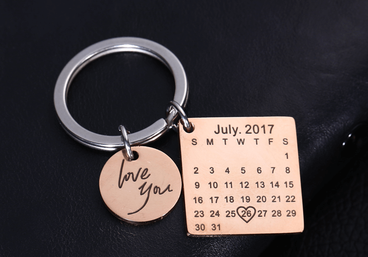 New Design Personalized Calendar Keychain