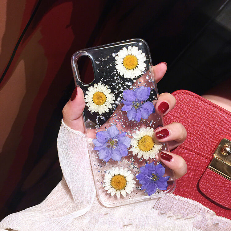 Genuine Pressed Dried Flower iPhone 8 Plus Case- colorulife.com