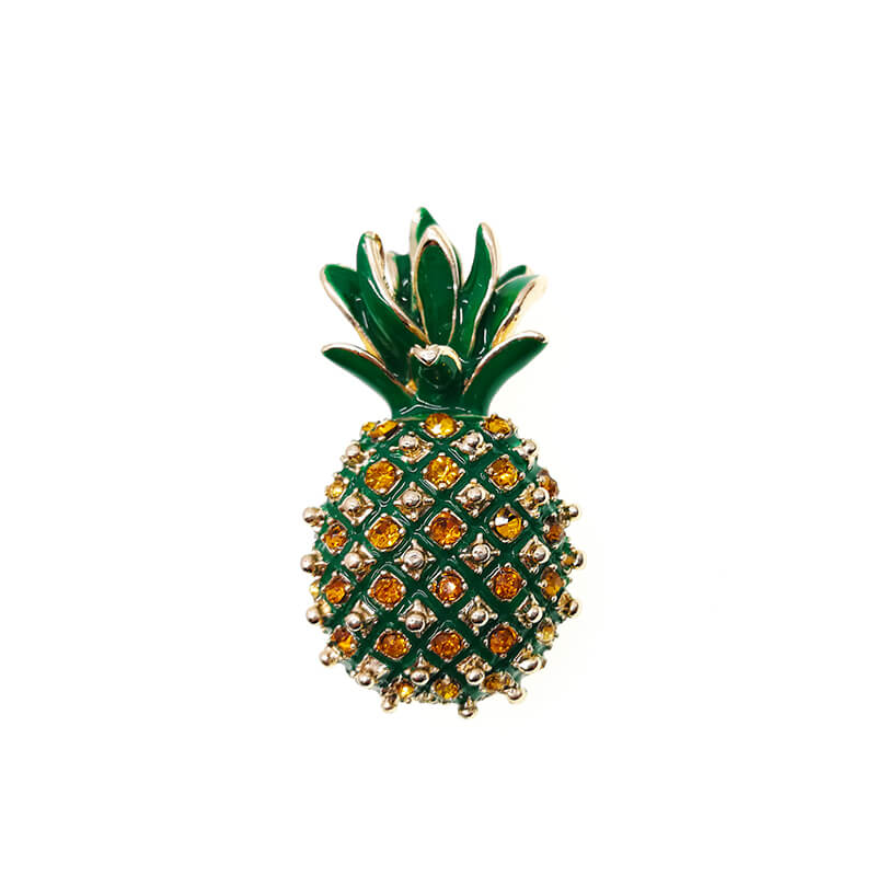 Beautiful Pineapple Crystal Brooch Pin- colorulife.com